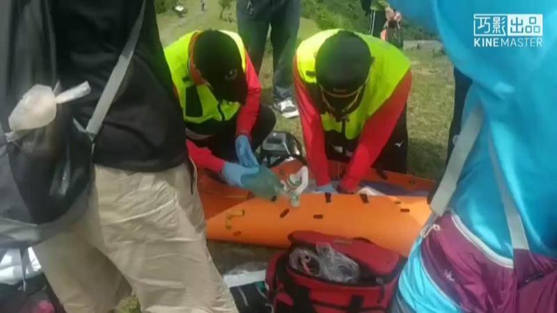 五一連假首日,有登山客在頭城鎮桃源谷步道昏迷OHCA,直升機緊急吊掛送醫。