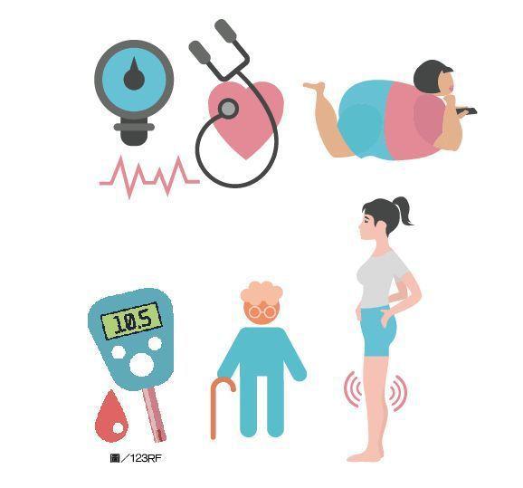 媽媽有慢性疾病,運動要注意。圖/123RF