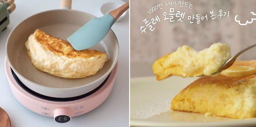 「1000次歐姆蛋」取代「400次咖啡」成為韓國網友最夯美食。 圖/翻攝自Ins...