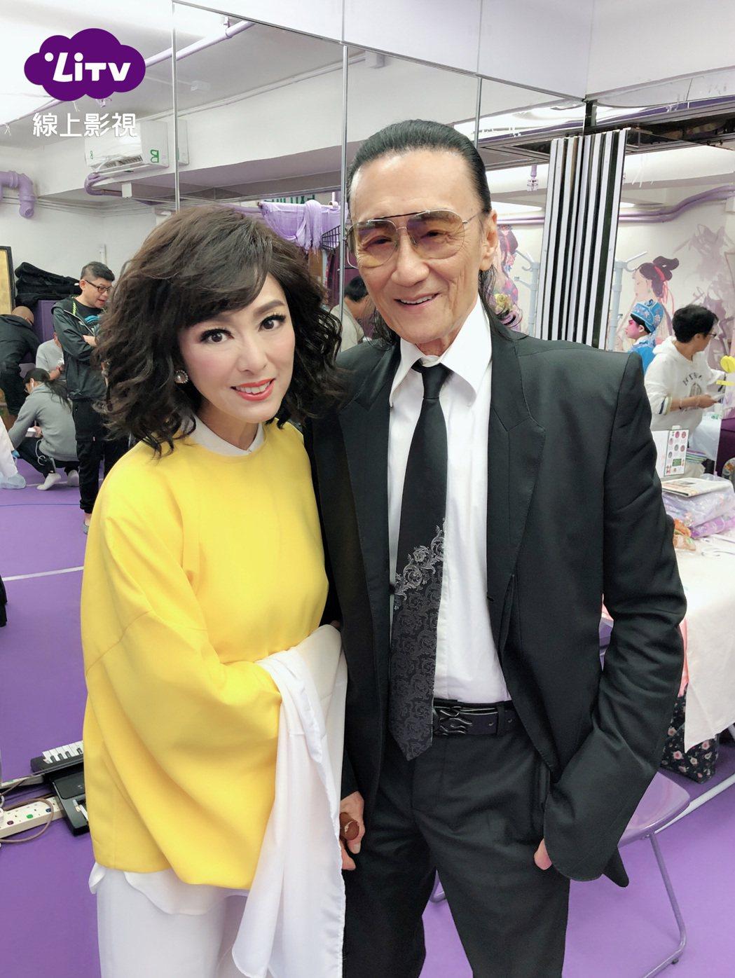 米雪(左)和謝賢合作拍戲。圖/LiTV線上影視提供