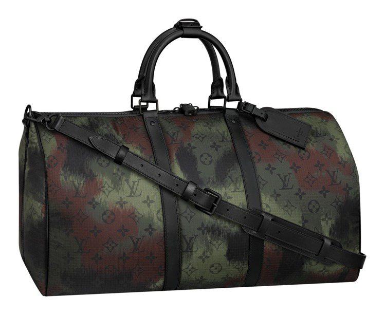 Nylon Camouflage系列Keepall手袋,89,500元。圖/LV...