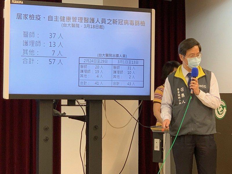 中央流行疫情指揮中心專家諮詢小組召集人張上淳,今在分享他在門診中長期追蹤的一位H7N9患者的經驗,證明感染後,肺纖維化是可恢復的。  記者陳雨鑫/攝影