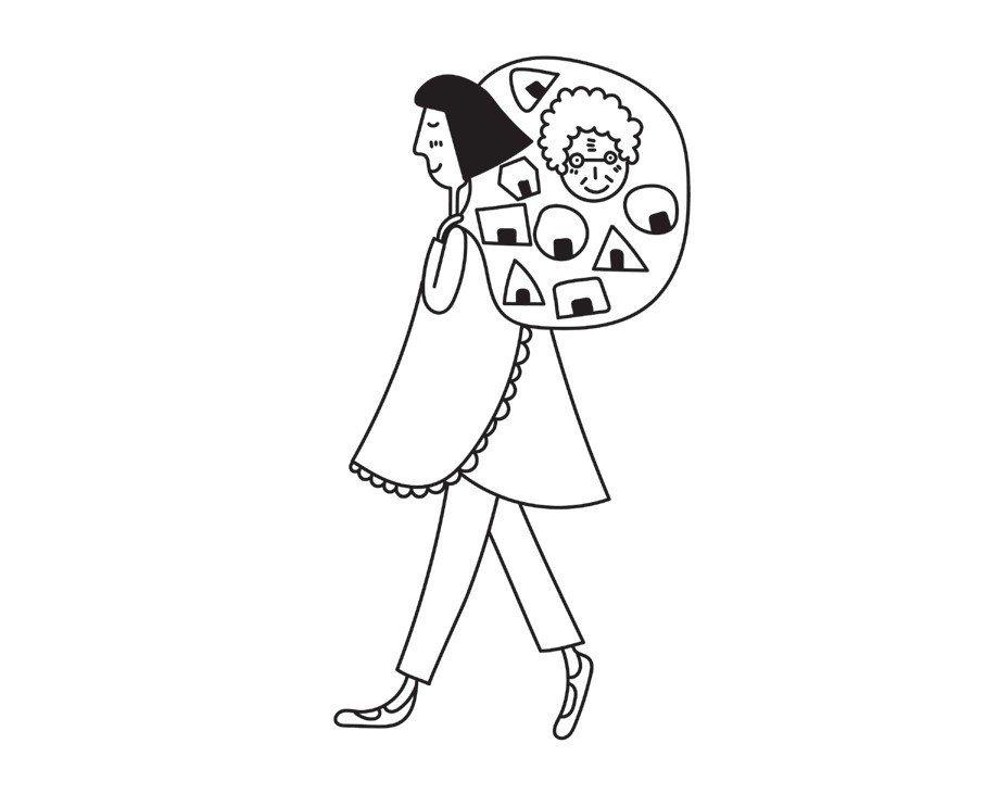 把外婆的愛 包進紅米肉鬆飯糰 圖/摘自幸福文化出版