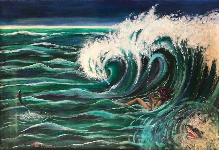 大海的無邊寬闊與美人魚,成為薇薇夫人的繪畫主題。 圖/取自50+(Fifty P...