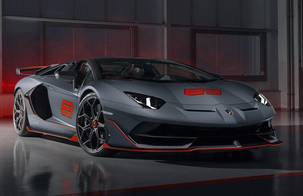 Lamborghini Aventador SVJ 63 Roadster。 摘...