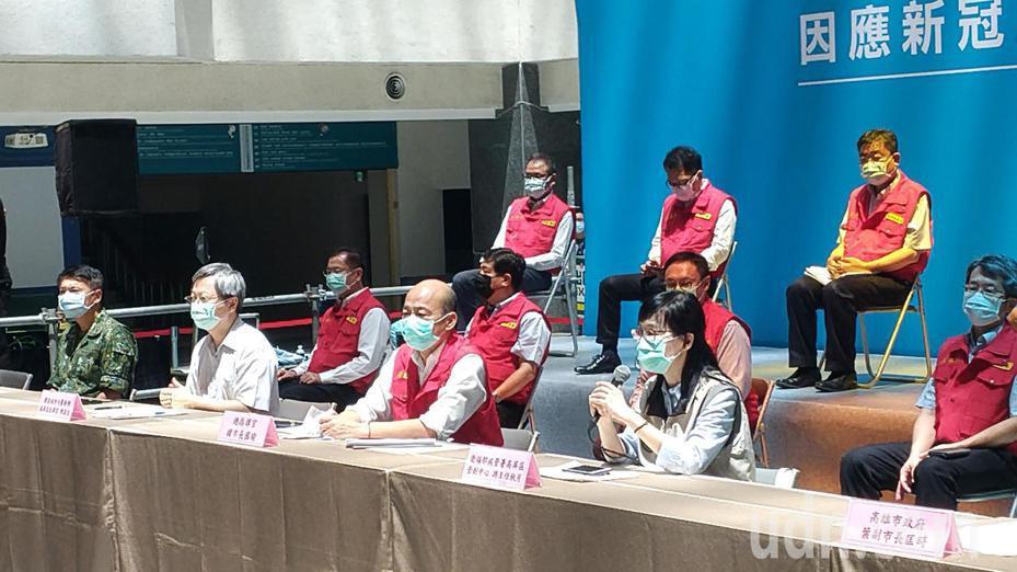 高雄市政府举行防疫演练。记者蔡孟妤/摄影