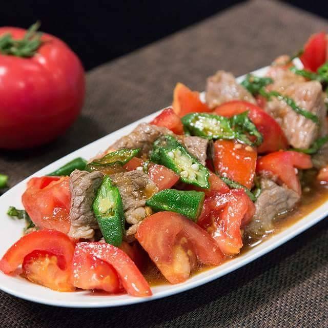 番茄牛肉溫沙拉。圖/陳怡樺提供