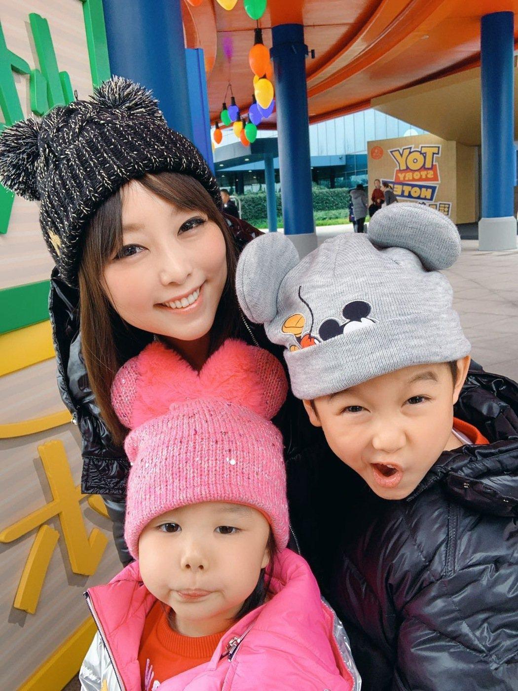 朱安禹與一雙兒女。圖/朱安禹提供