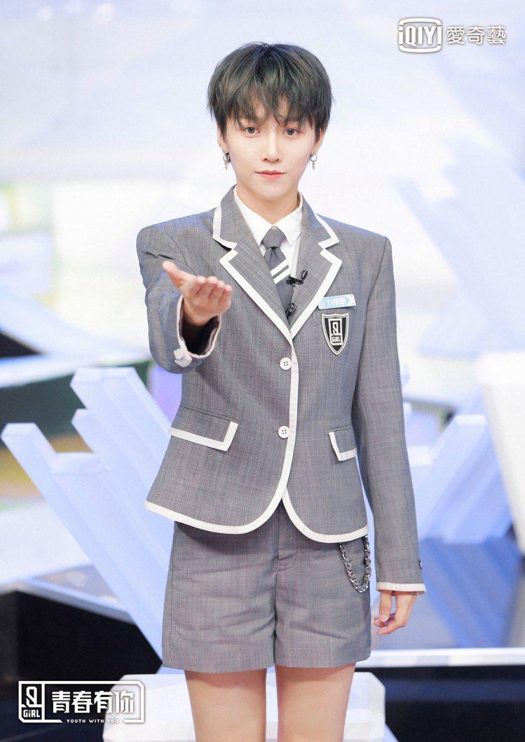 劉雨昕是參賽者中的中性代表。圖/愛奇藝台灣站提供