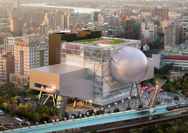 台北表演藝術中心擁有獨特圓球狀劇場。圖/北藝中心提供