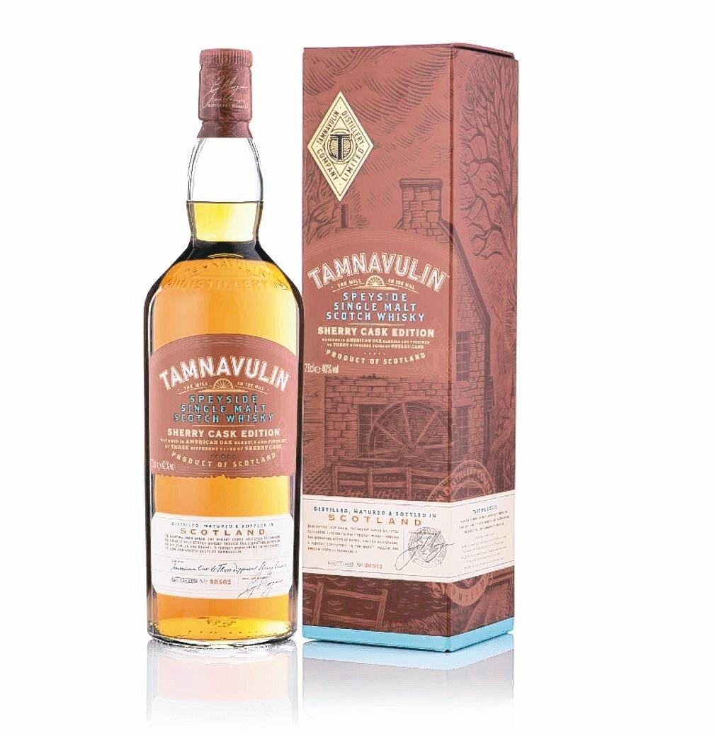 塔木嶺雪莉三桶單一麥芽蘇格蘭威士忌1公升全新上市。 尚格酒業/提供