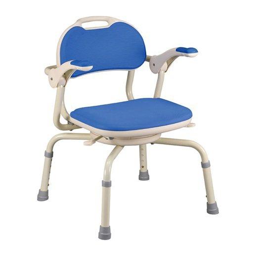 折疊式洗澡椅。可依身高調整座椅高度;椅面可360度旋轉,方便性高。 北之特樂銀/...