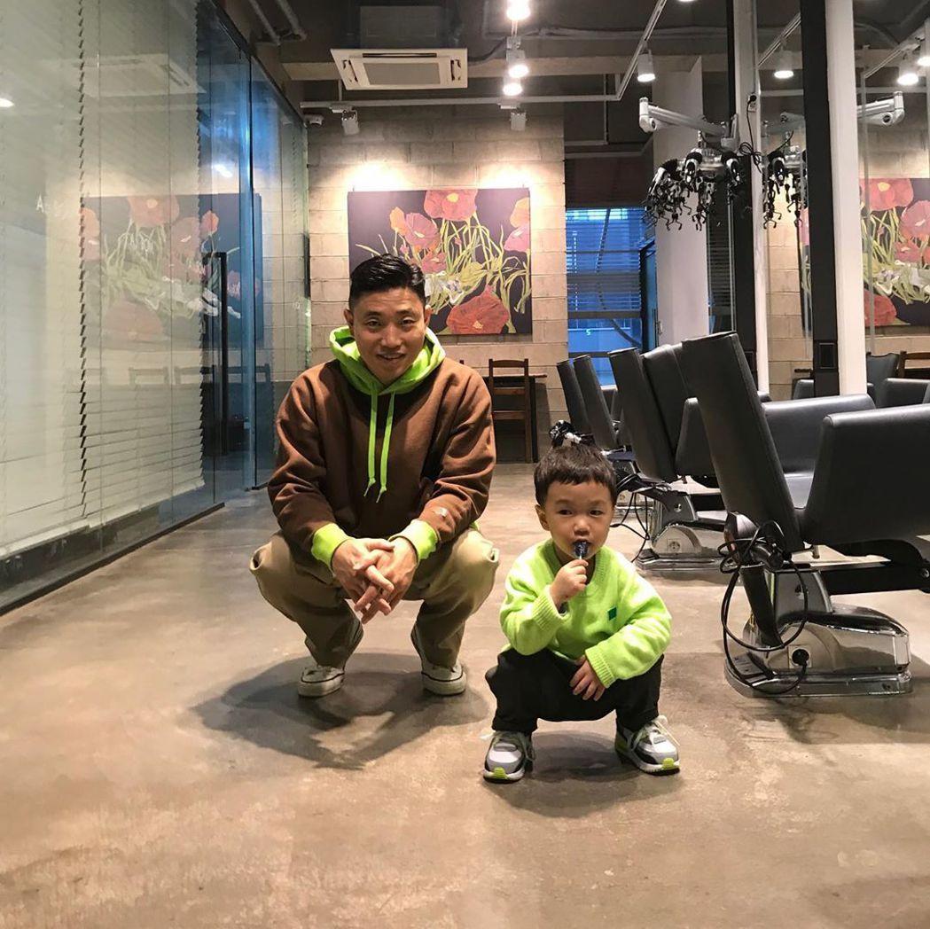 Gary兒子夏吳受到很多網友喜愛。圖/擷自IG