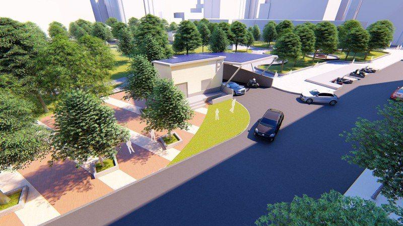 樹林區長壽公園地下停車場工程經費3億1233萬元,預計規劃地下3層,可提供216個小型車停車位及100個機車停車位。圖/新北交通局提供