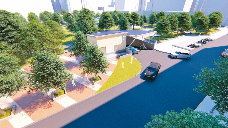 樹林區長壽公園地下停車場工程經費3億1233萬元,預計規劃216個小型車停車位及100個機車停車位。 圖/新北交通局提供