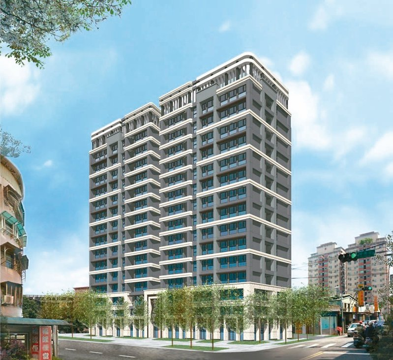 樹林國小旁違建更新案將打造成1棟地上15層、地下4層的住商大樓,此為模擬圖。 圖/新北市城鄉局提供