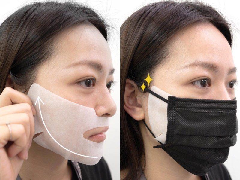 提提研保濕舒緩防護貼專為長時間戴口罩而悶熱的臉頰與下巴所設計。 圖/提提研提供