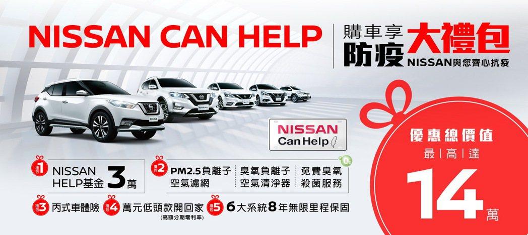 「NISSAN CAN HELP」限時回饋專案登場,最高優惠總價值達14萬元,同...