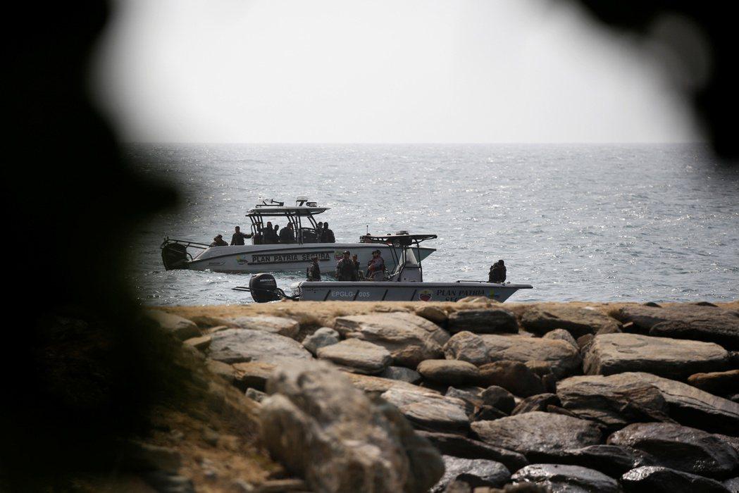 5月3日,委內瑞拉海岸的肅清圍捕。 圖/路透社