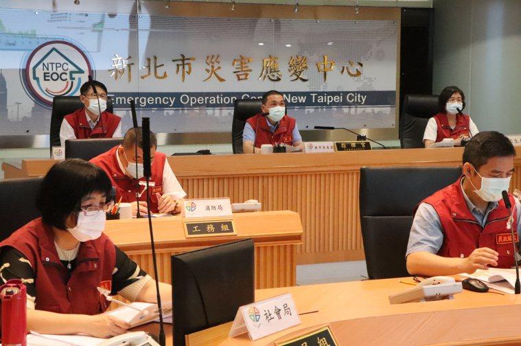 新北市府今召開第52次防疫應變會議。記者吳亮賢 / 攝影
