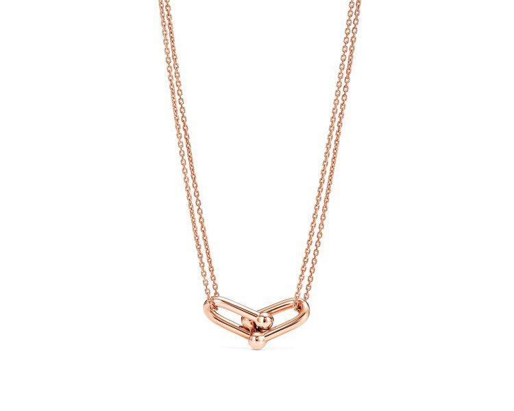 Tiffany HardWear Link 18K玫瑰金鏈結設計鍊墜,78,00...
