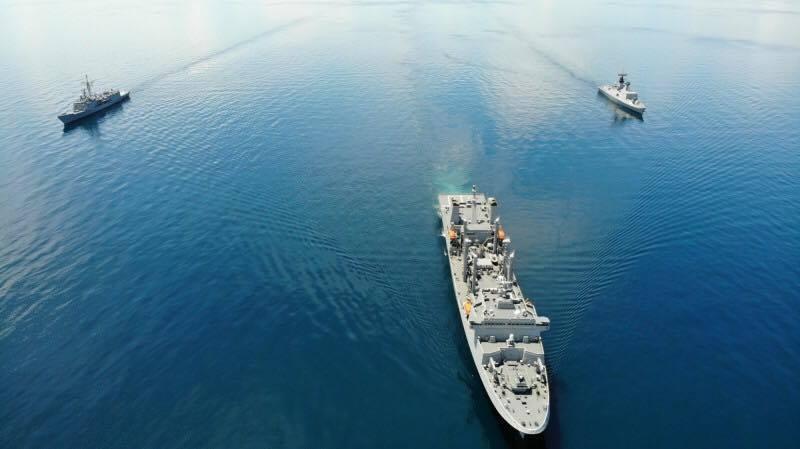 海軍敦睦艦隊納編磐石軍艦、成功級岳飛軍艦及康定級康定軍艦,預計5月底前恢復戰備。圖:海軍司令部