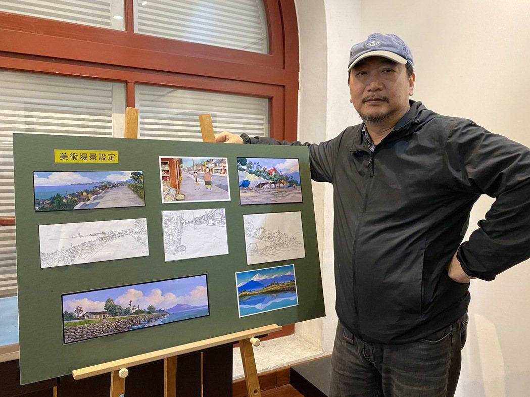 金馬獎導演康進和在淡水古蹟博物館「小白宮」首次公開動畫手稿。記者吳亮賢 / 攝影