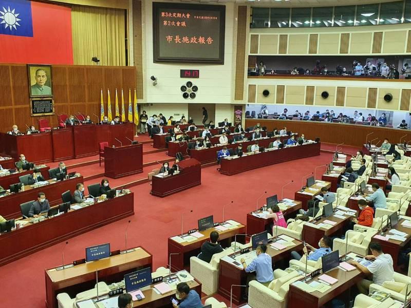 台北市議會下午進行警政衛生部門質詢。記者楊正海/攝影