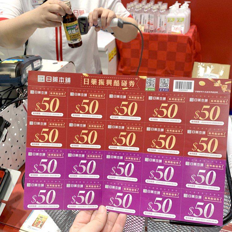 日藥本舖將於5月7日至5月10日針對會員發送每張價值1,000元的「振興酷碰券」...
