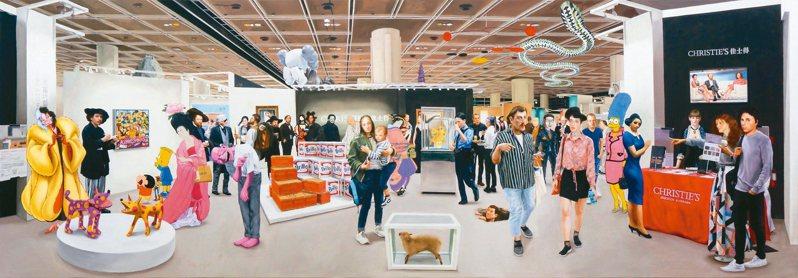 觀止堂將原訂於香港與東京藝術博覽會展出的作品以線上展覽方式呈現並完售,圖為韓國藝術家權能作品。 圖/觀止堂提供