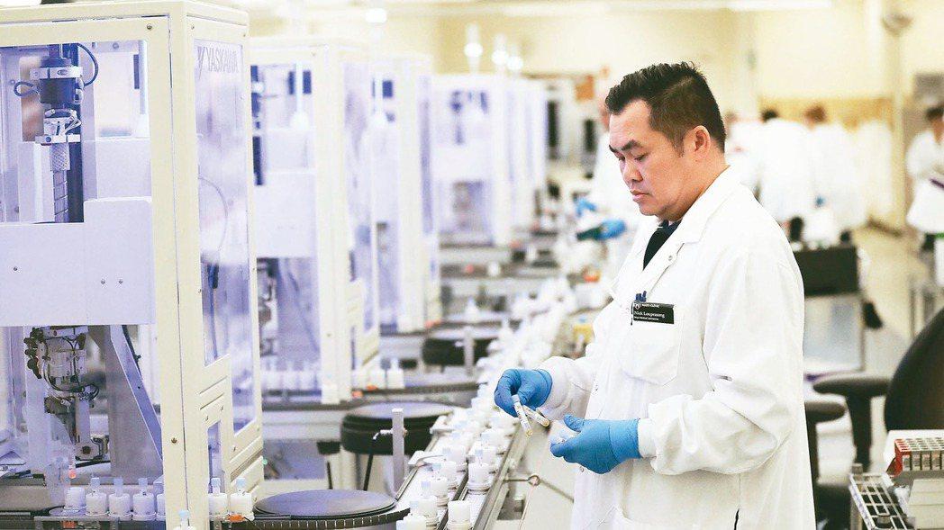 因新冠肺炎疫情需求,讓生技類股走出五年低潮期。 美聯社