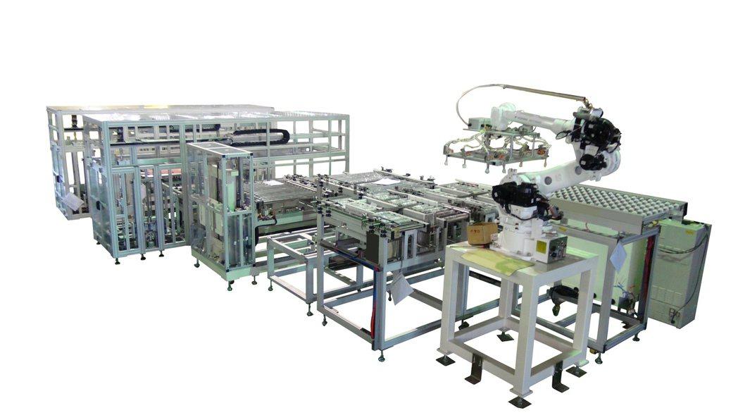 包裝自動化整廠設備。川岳/提供