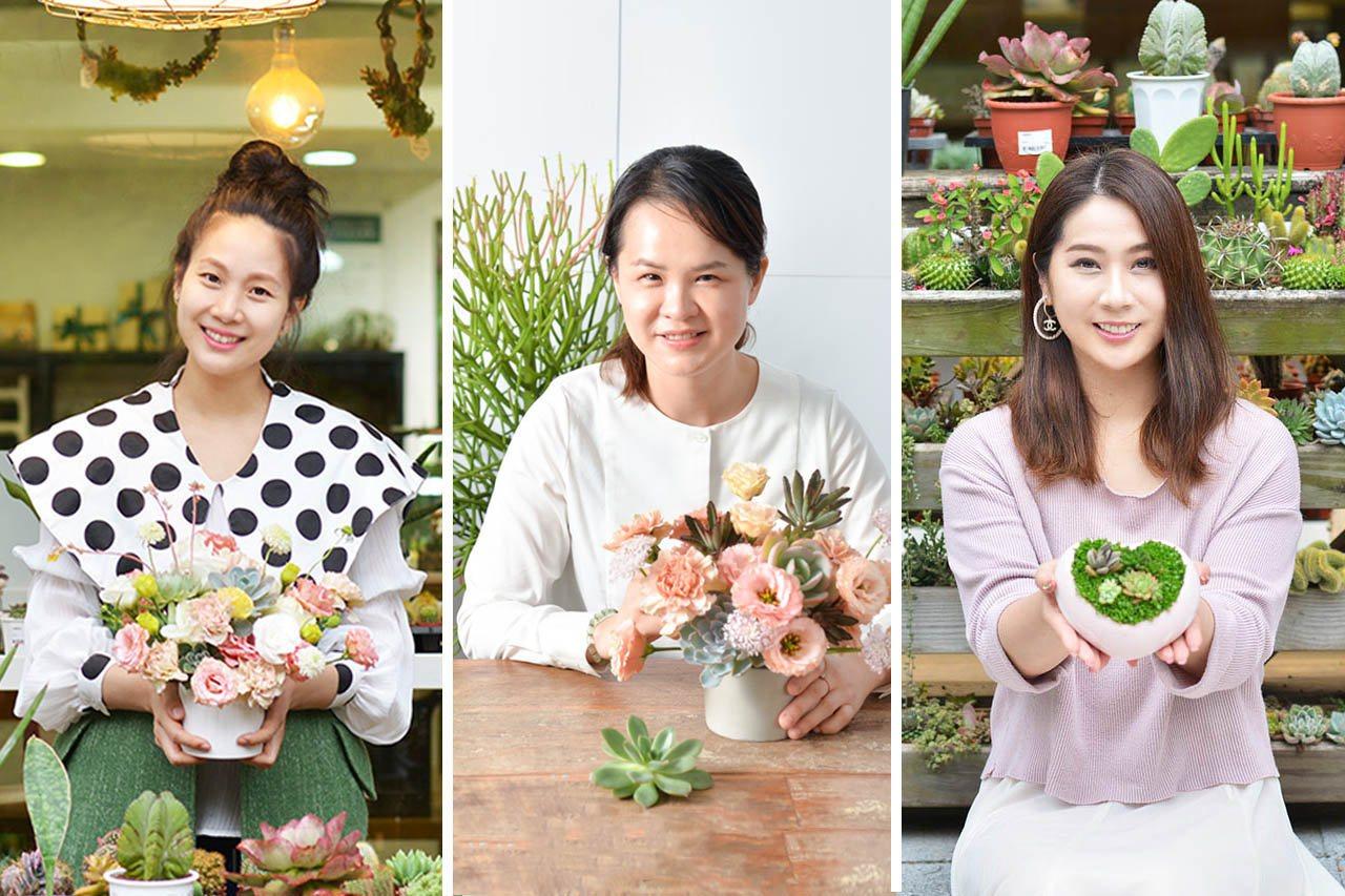 三位身為母親的創業家,(左)「寬和創意創意總監 Linda」、(中)「童顏有機創...