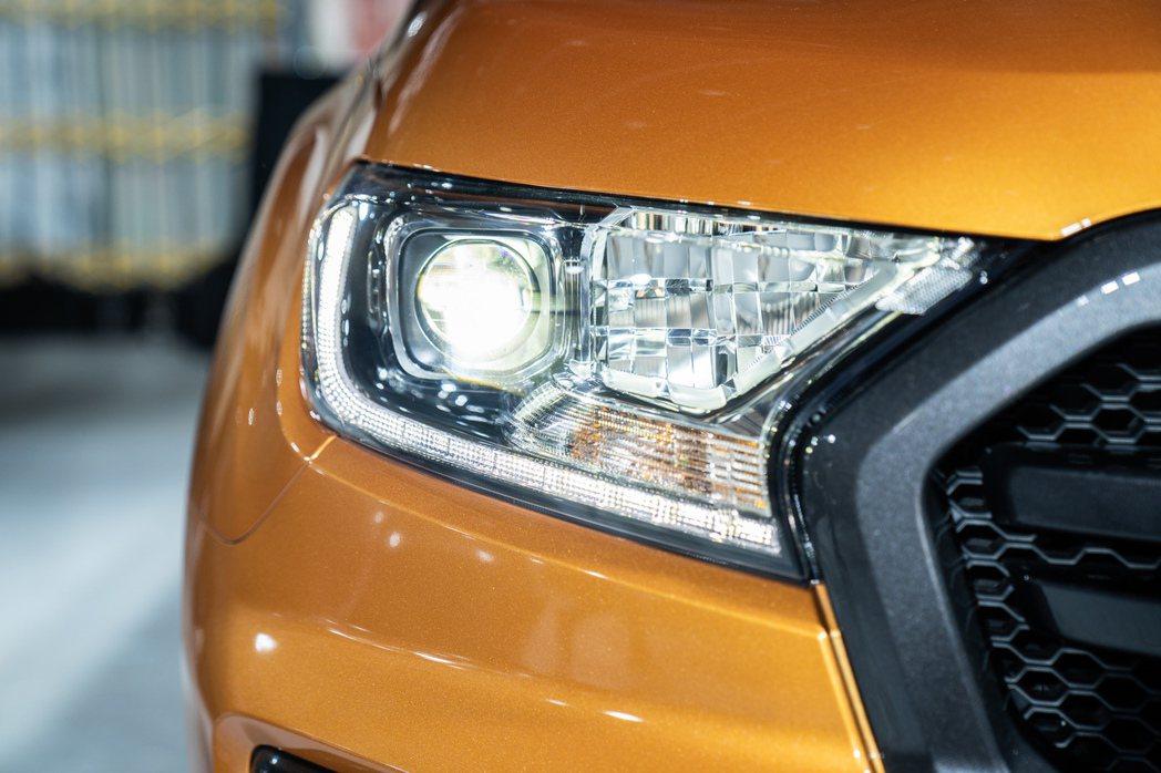 全新方型投射式LED頭燈。 圖/福特六和提供
