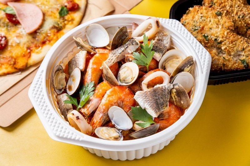 托斯卡尼海鮮番茄湯。 北投雅樂軒/提供
