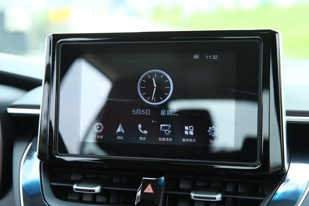 導入「TOYOTA Drive+ Connect智聯車載系統」。 記者林澔一/攝...