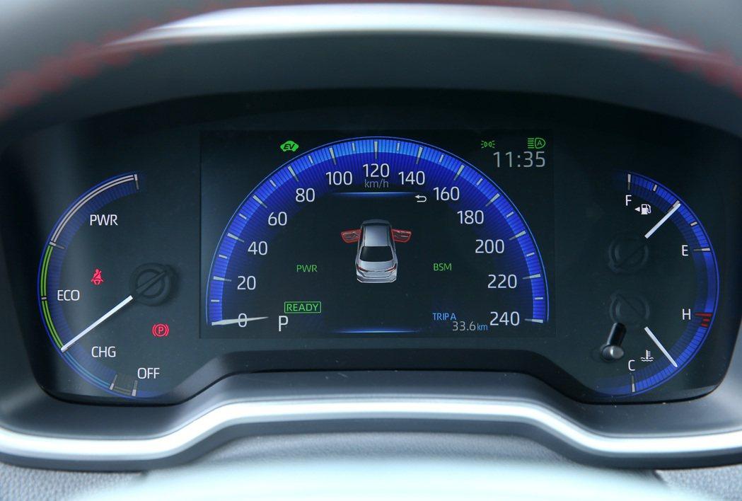 數位式儀錶板附7吋多功能資訊顯示幕。 記者林澔一/攝影