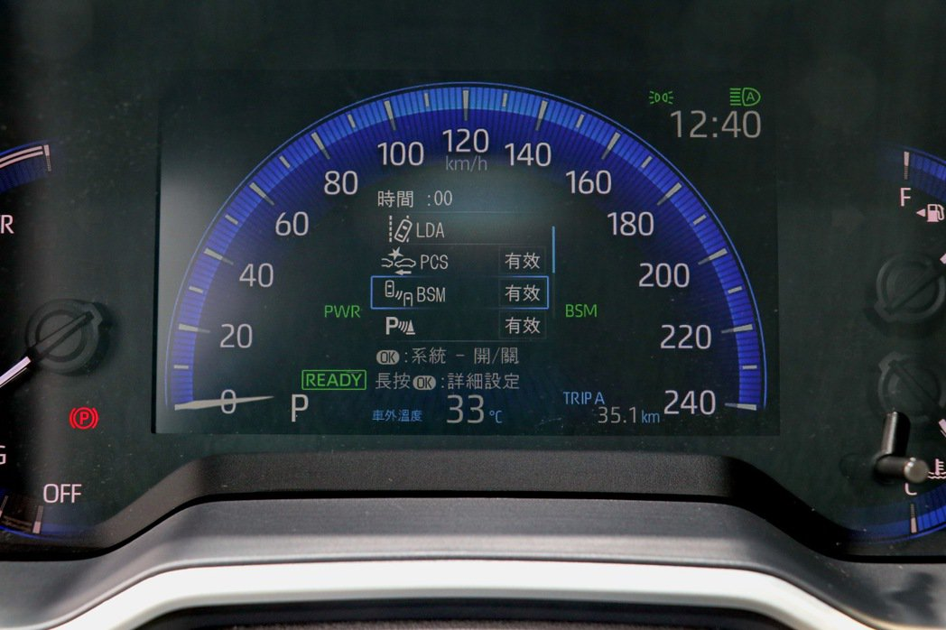 Toyota Safety Sense是全車系標準配備。 記者陳威任/攝影
