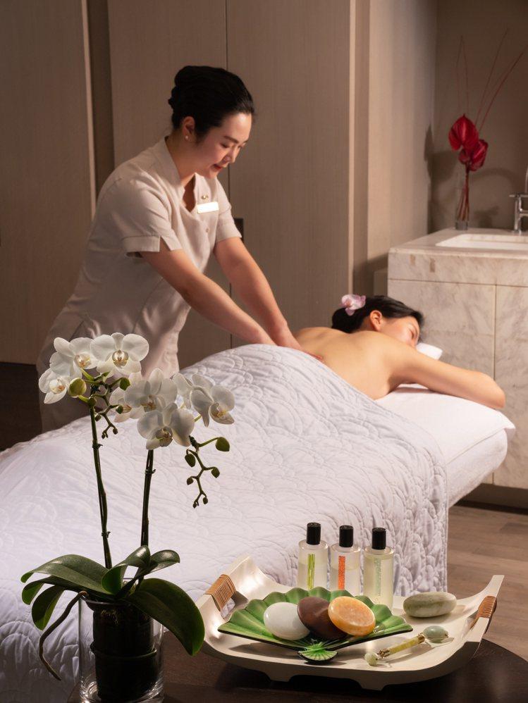 台北文華東方知名的芳療SPA,母親月也有優惠專案。圖/台北文華東方酒店提供