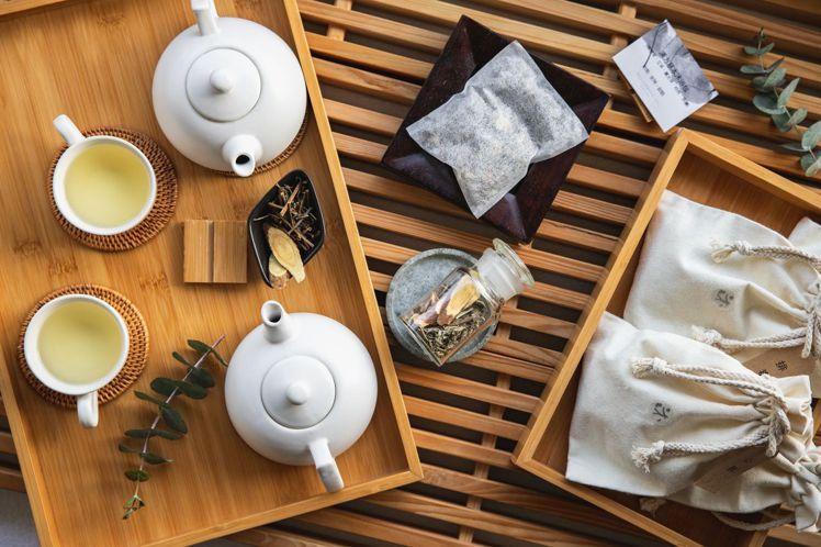 沐蘭SPA推出養身草本茶包與沐浴足浴包。圖/台北晶華酒店提供