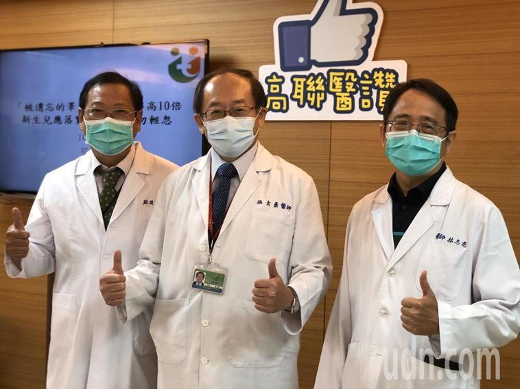 高雄市立聯合醫院泌尿科主任蘇進明(左)說,隱睪症患者若忽略檢查,睪丸長期受腹內高...