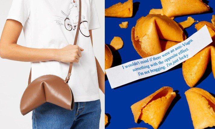 Paul Smith以幸運餅乾作為設計主題,推出包包和鑰匙圈吊飾。圖/Paul Smith提供、摘自Twitter