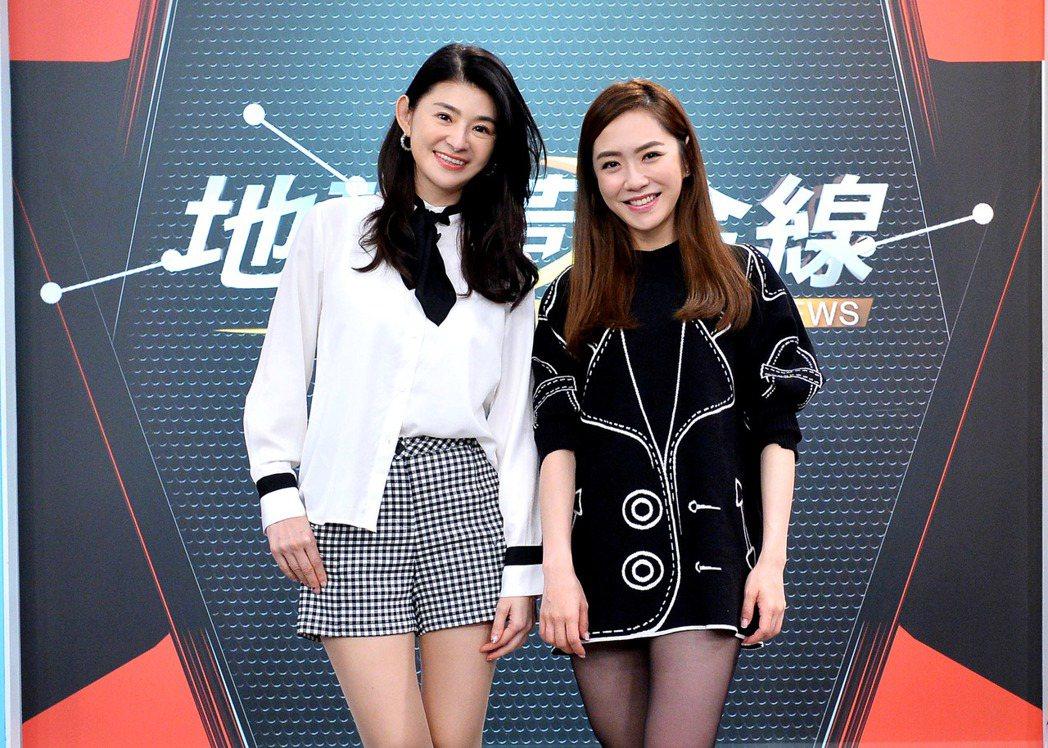 楊千霈(右)上「地球黃金線」。圖/TVBS提供