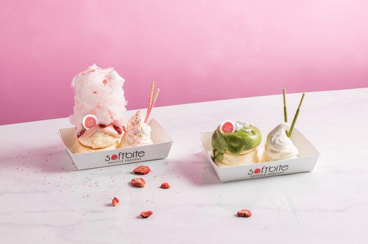 Softbite提供有6款各具特色的舒芙蕾鬆餅。圖/頂呱呱提供