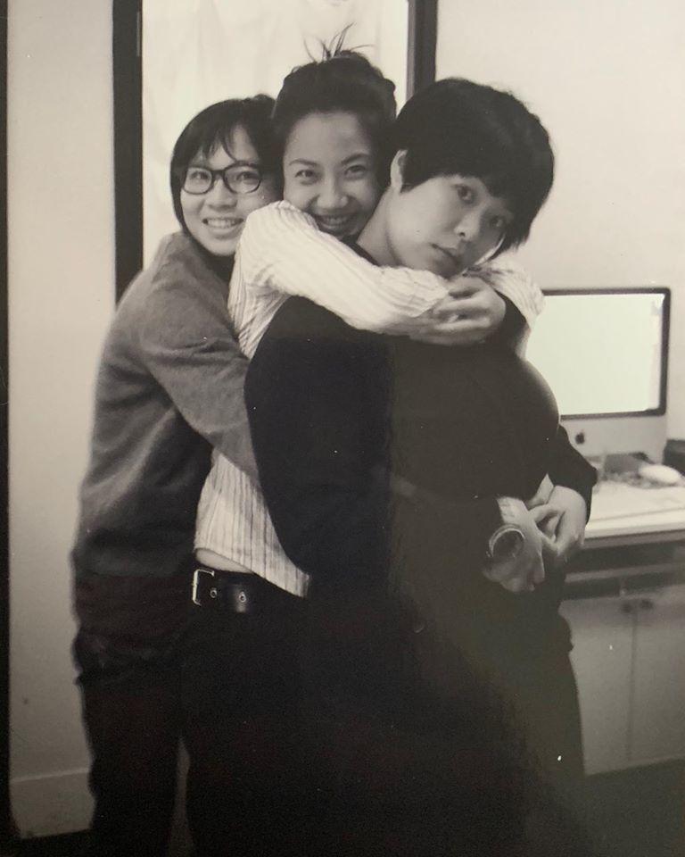 左起余靜萍、盧凱彤、林二汶。圖/摘自林二汶臉書