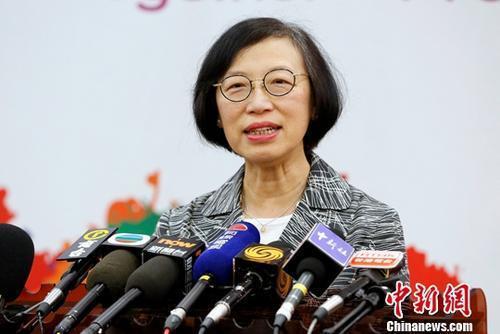 香港食物及衛生局局長陳肇始。圖/中新網