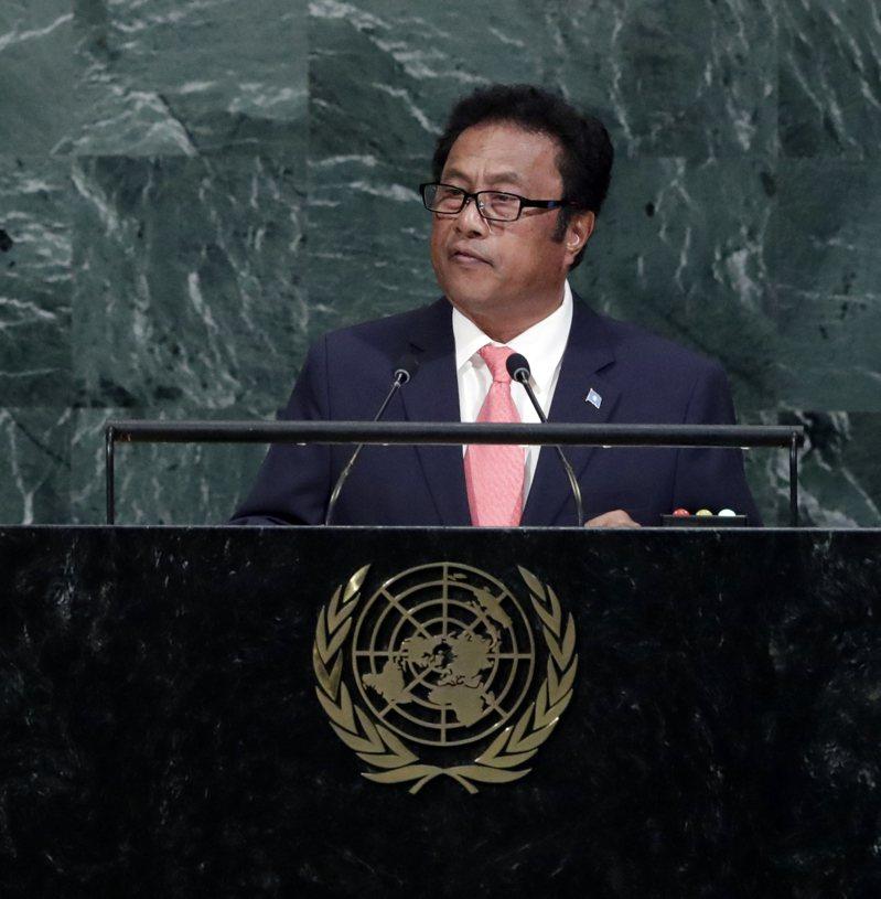 帛琉總統雷蒙傑索(圖)強調將台灣納入世界衛生組織(WHO)等國際組織的必要性。 歐新社