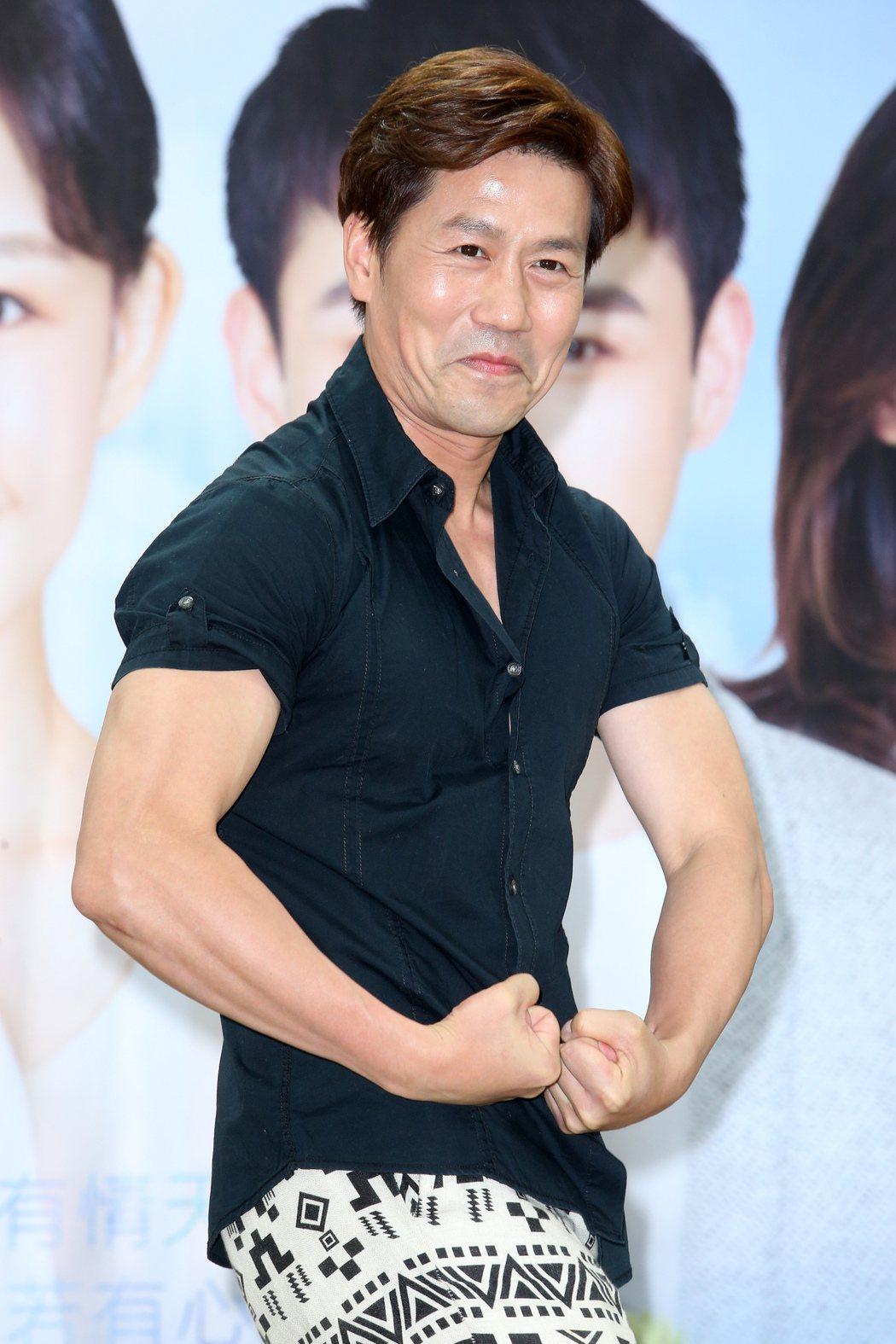 51歲的羅時豐,健身有成。 圖/陳立凱 攝影