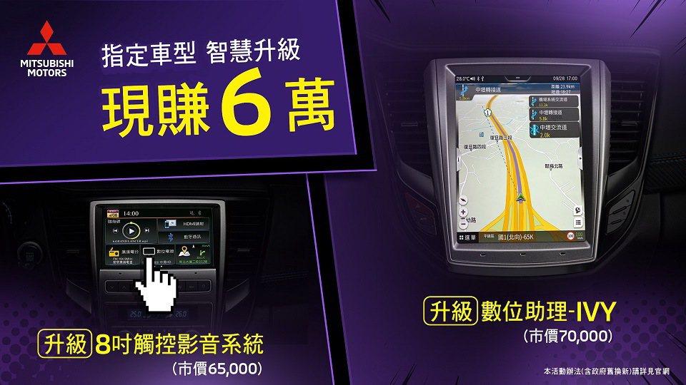 GRAND LANCER全車系本月提供多元優惠內容。 圖/中華三菱提供