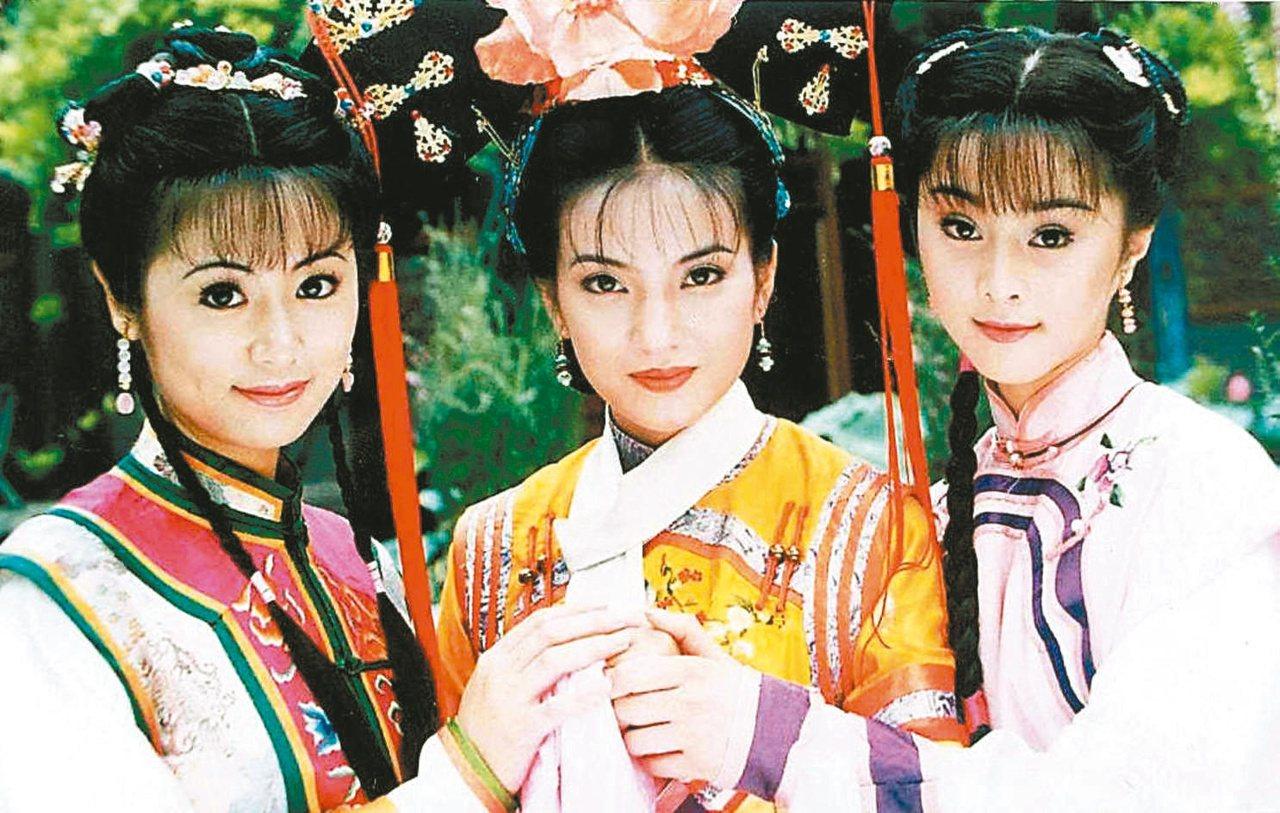 林心如 (左起)、趙薇和范冰冰當年演出「還珠格格」一炮而紅。  圖/本報系資料...